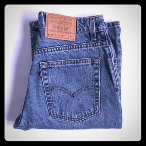 Vintage Levi's 517 red tab jeans